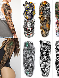 cheap -1 pcs Temporary Tattoos Water Resistant / Waterproof / Safety / Creative Face / Body / Hand Water-Transfer Sticker Body Painting Colors