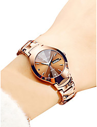 cheap -Women's Quartz Watches Quartz Luxury Water Resistant / Waterproof Analog - Digital Rose Gold White / Black White+Coffee / Calendar / date / day / Noctilucent