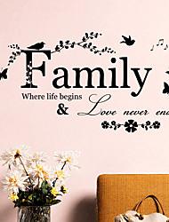 abordables -zy8346 les nouveaux proverbes anglais la famille salon chambre fond autocollants muraux décoratifs peuvent être enlevés