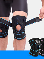 cheap -AOLIKES Protective Gear Knee Brace for Gym Workout Exercise & Fitness Running Adjustable Shockproof Joint support Men Women Silica Gel SBR Black Light Green Orange