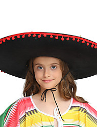 cheap -Kid's Girls' Cute Mexico Hat For Party Halloween Straw Rope Halloween Carnival Masquerade Hat