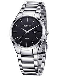 cheap -CURREN Men's Steel Band Watches Quartz Stylish Stainless Steel Black / Silver 30 m Water Resistant / Waterproof Calendar / date / day Casual Watch Analog Fashion - Black Black / White Silver / Black