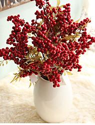 Недорогие -сомнение моделирование цветок рождество ягода свадьба шелковый цветок украшение дома