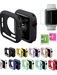cheap -2 in 1 Soft Silicone Cover Case and Screen protector for Apple Watch 5 4 3 2 1 4