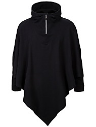 cheap -Men's Basic Hoodie - Solid Colored Black US32 / UK32 / EU40
