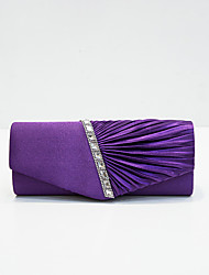 cheap -Women's Sequin / Glitter Nylon Evening Bag Solid Color Black / White / Purple