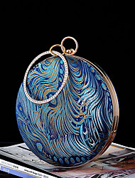 cheap -Women's / Girls' Pattern / Print / Embossed Silk / Alloy Evening Bag Solid Color Light-gold / Navy Blue / Dark Blue