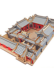 Недорогие -3D пазлы Деревянные пазлы Китайская архитектура моделирование Ручная работа деревянный 246/161/127/179 pcs Детские Взрослые Все Игрушки Подарок