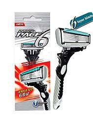 Недорогие -бритва dorco 6-слойная бритва для мужчин для бритья бритвенные лезвия из нержавеющей стали