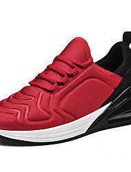 cheap -Men's Comfort Shoes PU Fall & Winter Athletic Shoes Running Shoes Color Block Black / Black / White / Black / Red