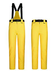 cheap -Women's Men's Ski / Snow Pants Skiing Camping / Hiking Ski / Snowboard Waterproof Windproof Warm Polyester Pants / Trousers Bib Pants Ski Wear / Winter / Solid Colored
