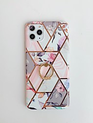 cheap -Case for Apple scene map iPhone 11 11 Pro 11 Pro Max X XS XR XS Max 8 Colorful marble flower pattern ring bracket plating TPU material IMD process all-inclusive mobile phone case