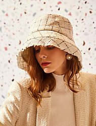 cheap -100% Wool Hats with Plaid 1pc Casual / Daily Wear Headpiece