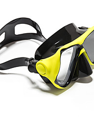 cheap -WAVE Snorkel Mask Water Resistant / Waterproof Two-Window - Swimming Silicon Rubber - For Adults Black / Anti Fog / Dry Top