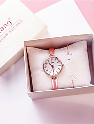 cheap -Women's Quartz Watches Quartz New Arrival Chronograph Silver / Pink / Rose Gold Analog - Rose Gold White Blushing Pink