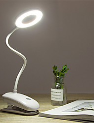 cheap -Portable LED Desk Lamp Touch On/Off Switch Eye Protection Clip Table Light 3 Modes Dimmable USB Rechargeable Desk Lights