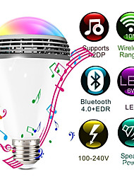 cheap -WiFi Smart RGB E27 Bulb Bluetooth 4.0 Audio Speakers Lamp Dimmable LED Wireless Music Bulb Light Color Changing via WiFi App Control