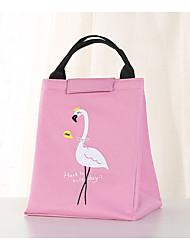 cheap -Unisex Oxford Cloth Lunch Bag Zipper Cartoon Daily Outdoor Handbags Black Pink Sky Blue