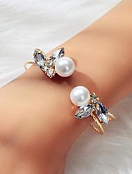 cheap -Women's Bracelet Geometrical Vertical / Gold bar Dream Believe Artistic Trendy Fashion Elegant French Imitation Diamond Bracelet Jewelry Gold For Wedding Engagement Gift Daily Festival
