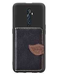 cheap -Case For OPPO Oppo F11 Pro Card Holder / with Stand / Ultra-thin Back Cover Geometric Pattern PU Leather / TPU