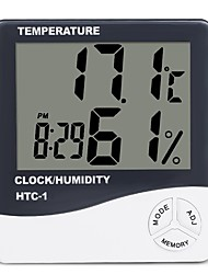 cheap -LCD Digital Temperature Humidity Meter Home Indoor Outdoor hygrometer thermometer Weather Station with Clock 9.2cm*8.4cm*2cm