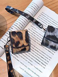cheap -Fashion Leopard Print Furry Plush Design Skin Case For Apple AirPods 1/2 Earphones Bluetooth Case For Air Pods Charging Cover