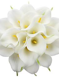 cheap -3 sticks calla lily wedding  realistic touch simulation flower home party decoration 3 Bouquet 2.16*13.4cm