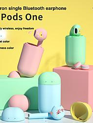 Недорогие -Macaron inpods один наушник беспроводная связь Bluetooth 5.0 наушники мини-вкладыш зарядное устройство спортивная стереозвук гарнитура для смартфона