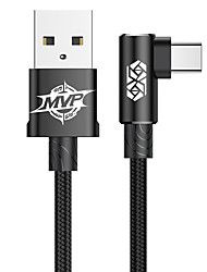cheap -Baseus MVP Elbow Type Cable USB For Type-C 2A 1M Black/Blue/Red