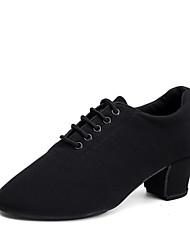cheap -Women's Dance Shoes Canvas Jazz Shoes Heel Thick Heel Customizable Black