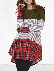 cheap -Women's Sheath Dress - Color Block Wine Army Green Yellow S M L XL