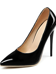 cheap -Women's Heels Stiletto Heel Pointed Toe Patent Leather Casual / Minimalism Spring & Summer Black / Almond / White / Wedding