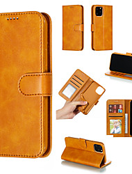 cheap -Case For Apple iPhone 8 Plus / iPhone 8 / iPhone 7 Plus Wallet / Card Holder / with Windows Full Body Cases Solid Colored Hard PU Leather