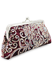 abordables -Femme Broderie Polyester / Alliage Pochette Broderie Noir / Bleu / Rouge