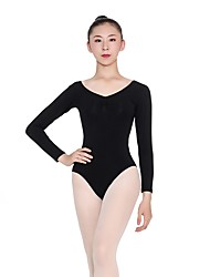 cheap -Ballet Leotards Women's Training Cotton / Spandex Gore Long Sleeve Natural Leotard / Onesie