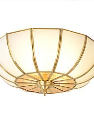 cheap -Lightinthebox 4-Light 45 cm Flush Mount Lights Copper Glass Novelty Brass Traditional / Classic / Country 220-240V