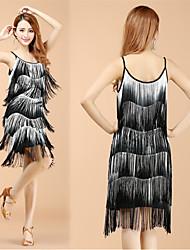 cheap -Women's Flapper Girl Latin Dance Flapper Dress Party Costume Tassel Flapper Costume Polyster White Red Blue Dress