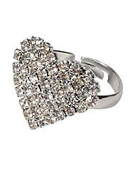 cheap -Women's Ring 1pc Silver Imitation Diamond Alloy Artistic Luxury Trendy Wedding Party Jewelry Heart Cute Heart Cool