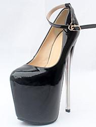 cheap -Women's Heels Stiletto Heel Closed Toe Synthetics British / Minimalism Fall / Spring & Summer Black / Almond / Wedding / Party & Evening