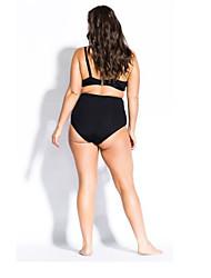 abordables -Femme Basique Noir Bandeau Slip Brésilien Taille haute Une-pièce Maillots de Bain - Géométrique Couleur Pleine Lacet Imprimé XL XXL XXXL Noir