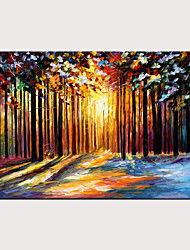 cheap -Oil Painting Hand Painted Abstract Landscape Modern Rolled Canvas Rolled Without Frame