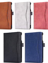 cheap -Case For Apple iPad Mini 4 / iPad Pro 11'' Card Holder Full Body Cases Solid Colored PU Leather