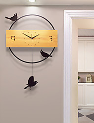 cheap -Modern / Contemporary Wood And Metal Novelty Indoor / OutdoorAA Batteries Powered AA Wall Clock