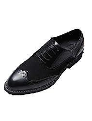 cheap -Men's Dress Shoes Synthetics Spring & Summer / Fall & Winter Business Oxfords Walking Shoes Breathable Black / White / Party & Evening