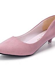 cheap -Women's Heels Stiletto Heel Round Toe PU Winter Black / Pink / Gray