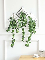 cheap -Hanging wall green leaves rattan adapt to rural home decoration