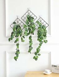 abordables -mur suspendu feuilles vertes rotin s'adapter à la décoration de la maison rurale