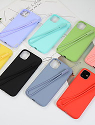 cheap -Case For Apple iPhone 11 / iPhone 11 Pro / iPhone 11 Pro Max Shockproof Back Cover Solid Colored Silica Gel