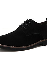 cheap -Men's Comfort Shoes Suede Fall & Winter Oxfords Black / Dark Brown / Dark Blue