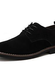 cheap -Men's Oxfords Comfort Shoes Daily Suede Dark Brown Black Dark Blue Fall & Winter